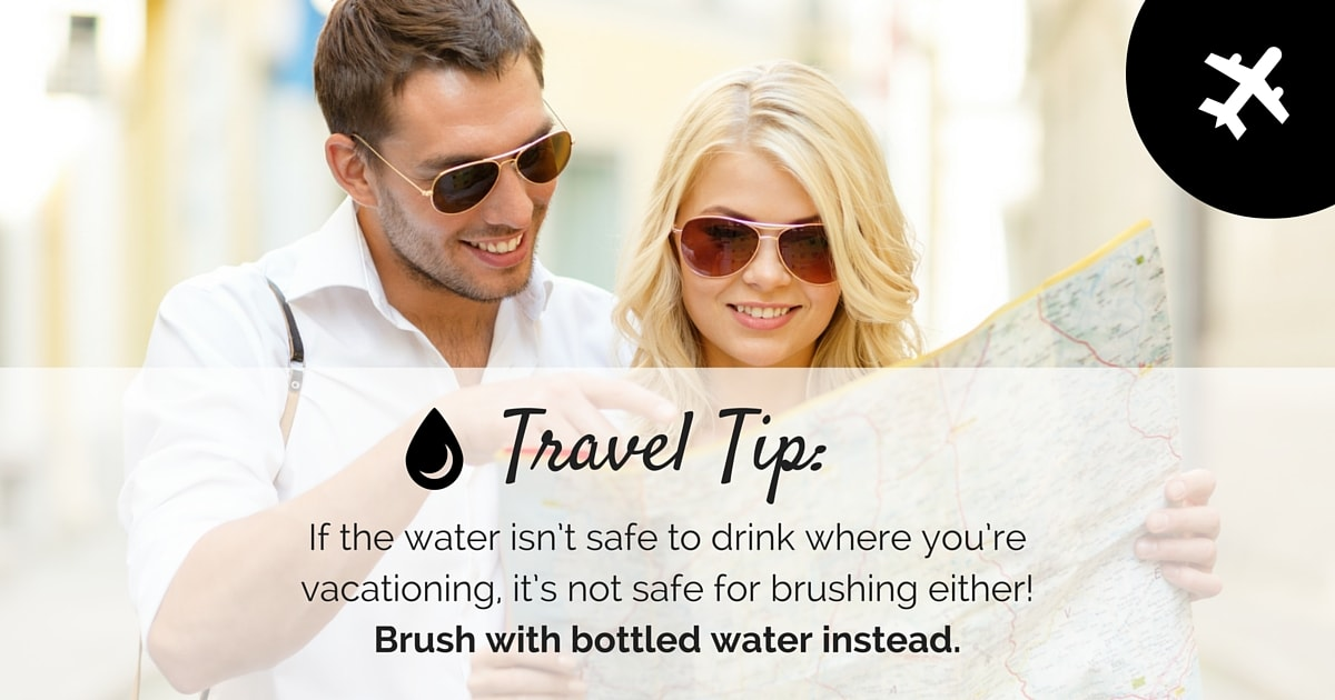 Maintain healthy teeth while traveling with these simple tips.